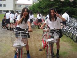 石巻市の中学・高校に自転車 ...