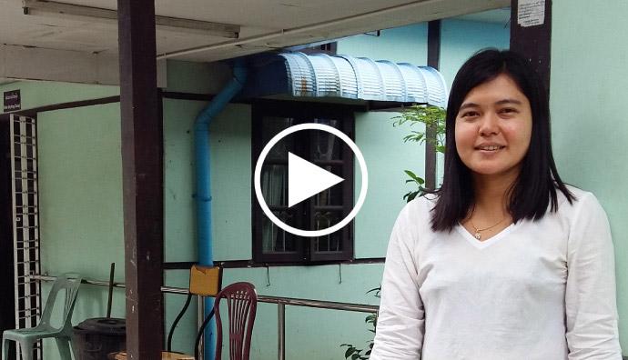 「君は、家にいるべきだ」ミャンマーでは多くの人が、障がい者は、勉強や仕事ができないと思っています。でも、私の人生は大きく変わりました