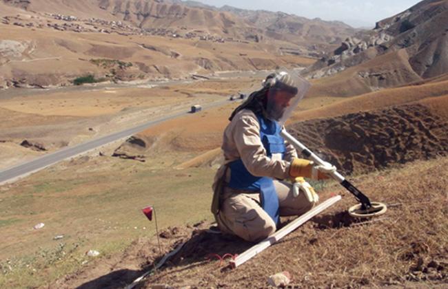 地雷除去作業(アフガニスタン)