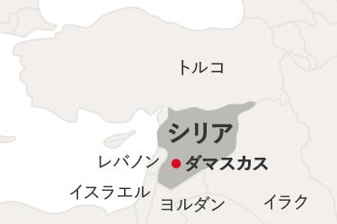 地図。トルコとシリアが隣接している